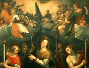 'Holy Virgin surrounded by angels', Jan I Snellinck, Saint James'.