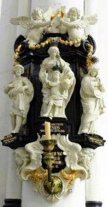 De beeldengroep van 'de Zoete Naam Jezus' met de Heilige Familie (Artus I Quellinus, 1644)