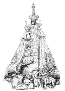 Sint-Paulus - Mariadevotiebeeld (tekening Christaan Joris)